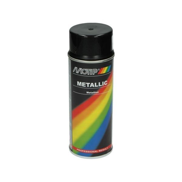 spuitlak 400mL spuitbus zwart metallic motip 04049