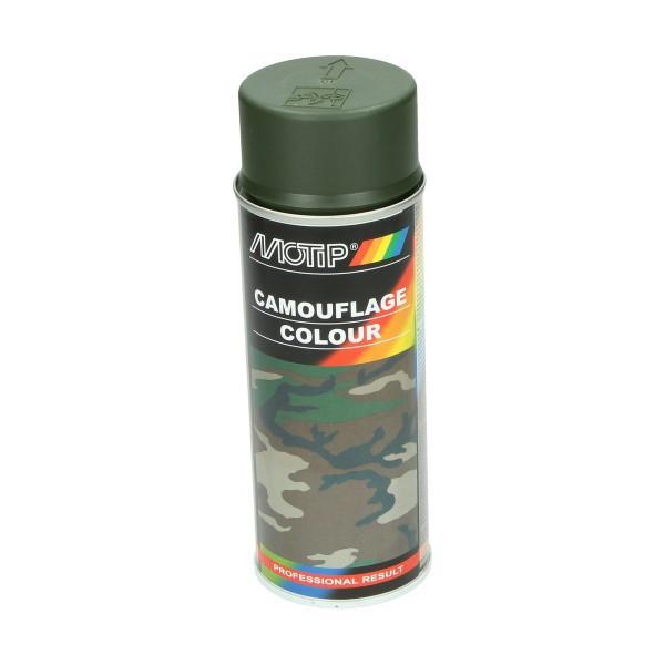spuitlak camouflage 400mL spuitbus groen motip 04203