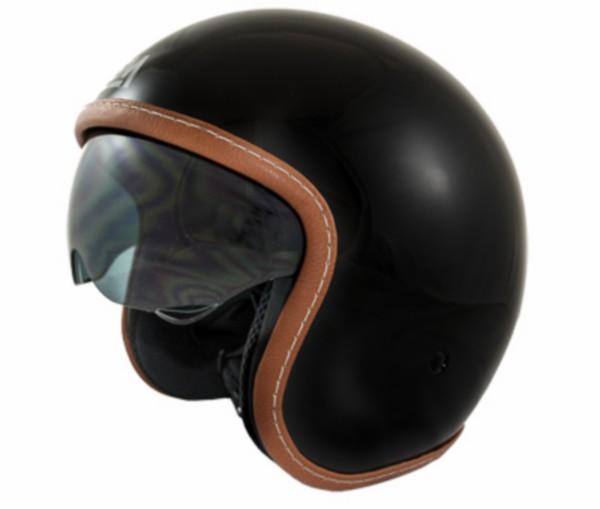 helm jet M 57/58 zwart lem sport