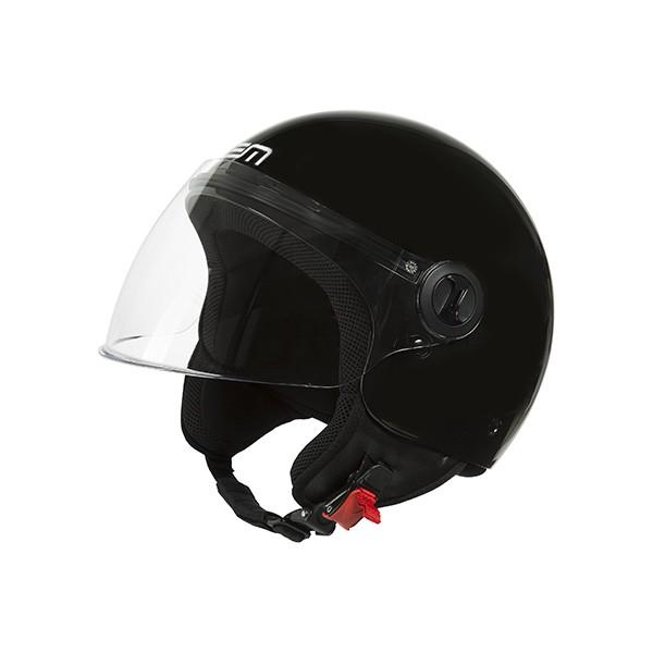 helm jet M zwart glans lem roger eco