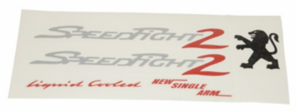 5 delige Peugeot Speedfight 2 sticker set
