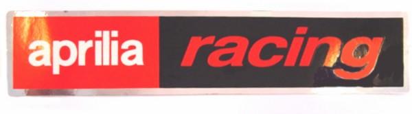 sticker aprilia woord [apr racing] 46x220mm rood/zwart falko 980675