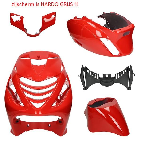 plaatwerkset model SP !! SCHADE !! Ferrari glans rood zip2000 DMP 5-delig