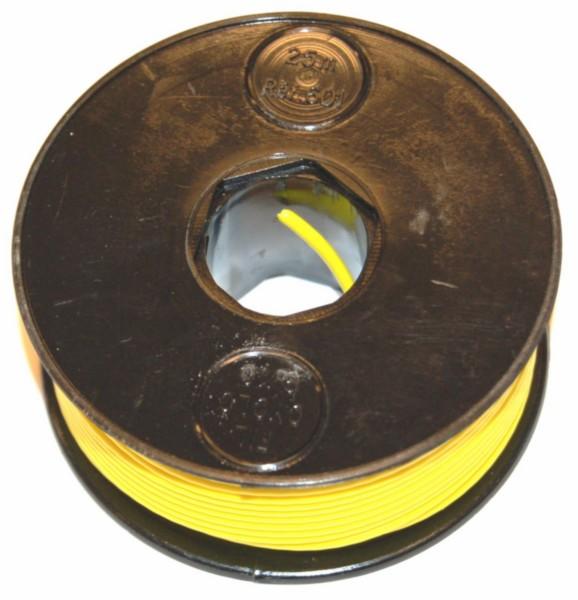 electrisch draad 25 meter geel per rol