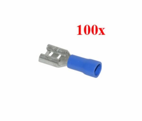 kabelstekker plat vrouw blauw 100pcs