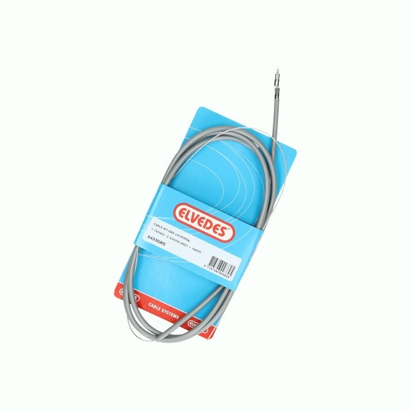 kabel gas set lang 1.80/2.00m grijs binnen+buiten elvedes
