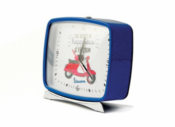 accessoire klok + alarm vespa blauw piag orig 606195m002