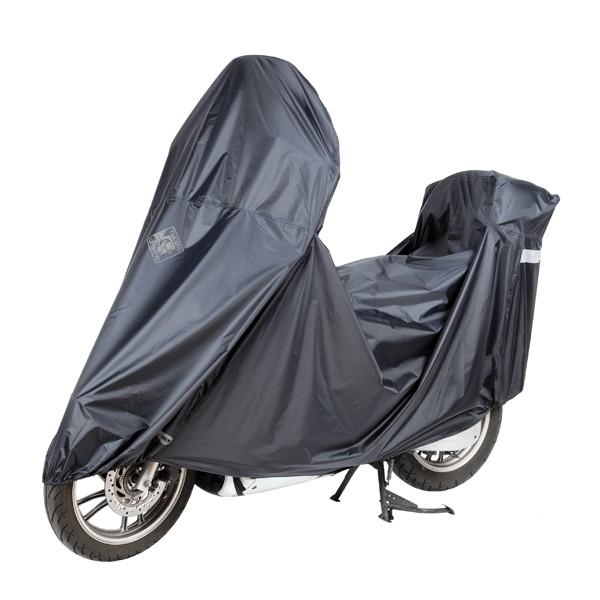 beschermhoes windscherm en topkoffer light scooter zwart tucano 2180