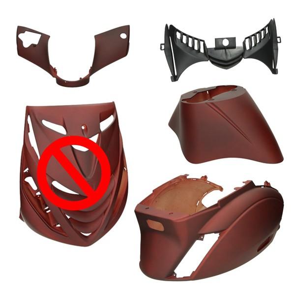 plaatwerkset model SP !! mist voorscherm !! flame army red zip2000 rood mat DMP