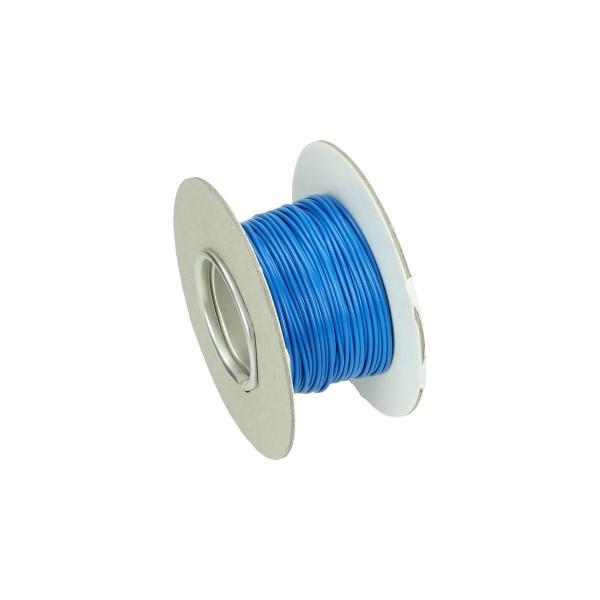 electrisch draad 30 meter blauw per rol