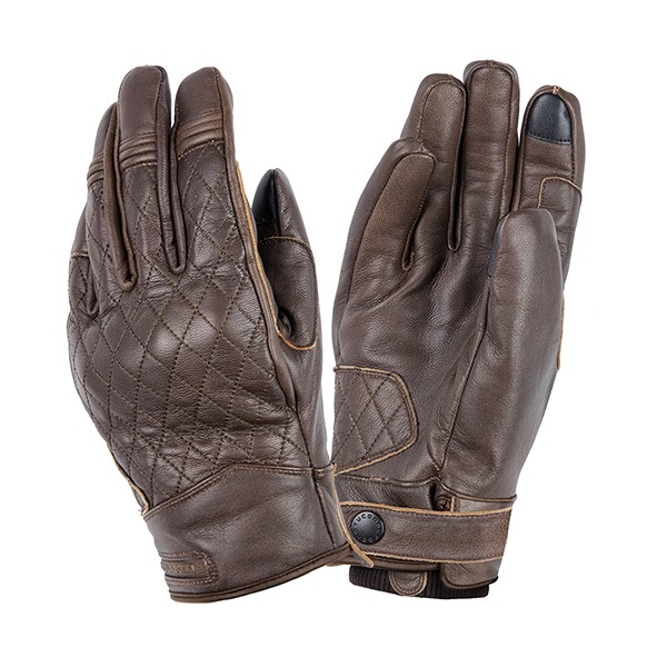 kleding handschoenset leer M bruin tucano steve 9957hm