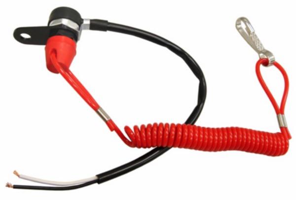dodemansknop (in spiegelgat) univ rood DMP
