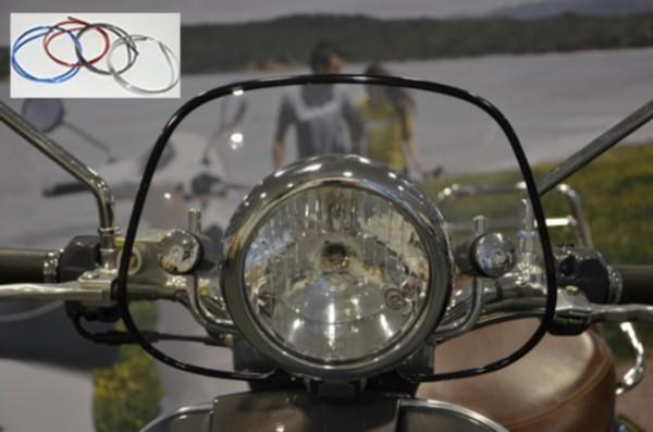sierstrip plaatwerkset windscherm scooter 1m zwart DMP