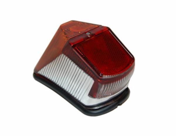 Achterlicht / achterlamp Zundapp 517 rood met chroom