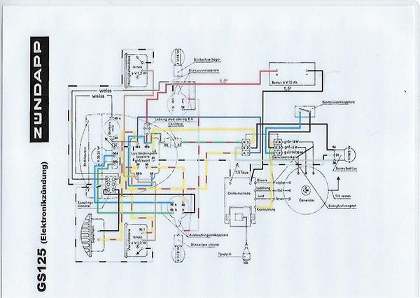 kabelboom electr. ontsteking GS125 grijs