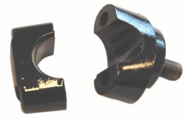 stuurklem fs1 zwart boven+onder 2-delig