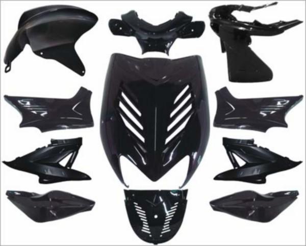 plaatwerkset kappenset special Yamaha aerox zwart metallic DMP 11 delig