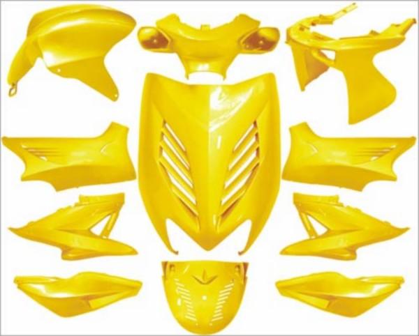plaatwerkset kappenset special Yamaha aerox geel DMP 11 delig