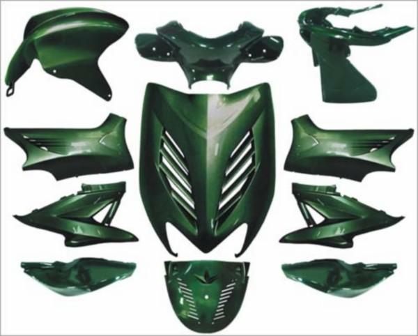 plaatwerkset kappenset special Yamaha aerox groen jaguar DMP 11 delig