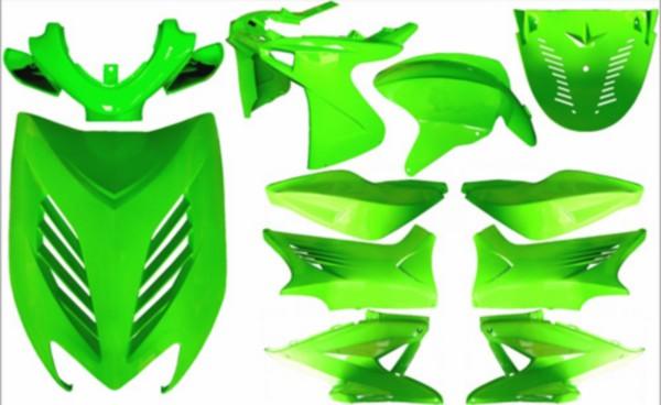 plaatwerkset kappenset special Yamaha aerox groen kawasaki DMP 11 delig