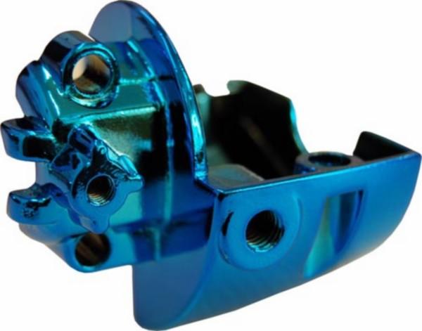 houder stuurschakelaar Yamaha aerox blauw chroom links DMP