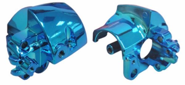 houder stuurschakelaar aerox blauw chroom rechts DMP OP=OP