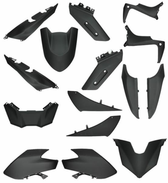plaatwerkset (vanaf 2016) t-max530 zwart mat 15-delig