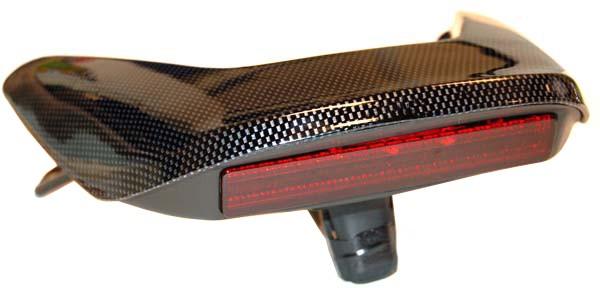 achterspoiler en led verlichting Yamaha  aerox carbon