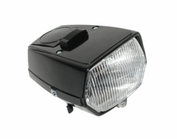 koplamp vierkant + schakelaar maxi zwart DMP