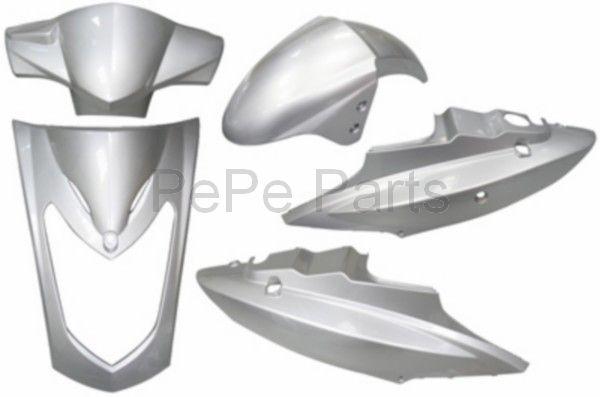 plaatwerkset 2-pers. agility zilver DMP 5-delig