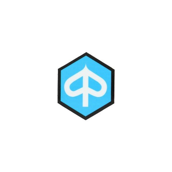 sticker logo voorscherm zeskant zip2000 blauw/wit/zwart