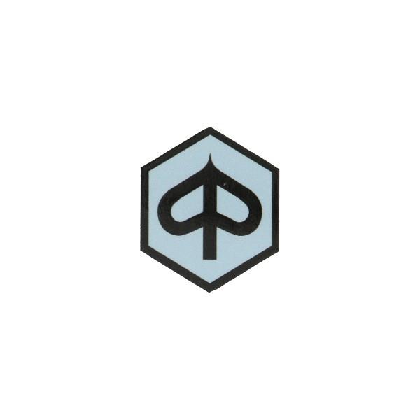 sticker logo voorscherm zeskant zip2000 grijs/zwart
