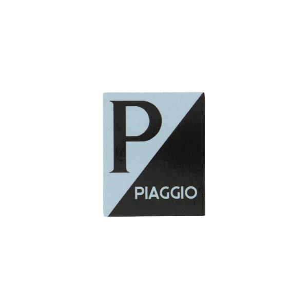 sticker logo voorscherm lx/piag/primav/sprin zwart/grijs