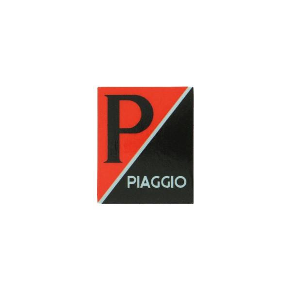 sticker logo voorscherm lx/piag/primav/sprin zwart/rood