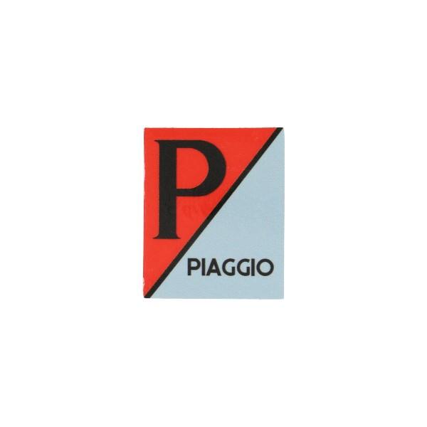 sticker logo voorscherm lx/piag/primav/sprin grijs/rood