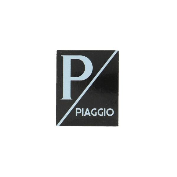 sticker logo voorscherm lx/piag/primav/sprin zwart/zwart