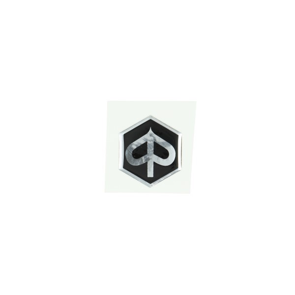 sticker logo voorscherm zwart/zwart 3d zip2000/zip4t