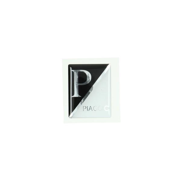 sticker logo voorscherm zwart/wit 3d lx/piag/primav/sprin