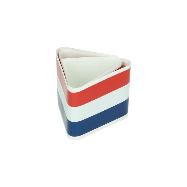 sticker piaggio voorscherm vespa lx/vespa S 6x60cm rood/wit/blauw