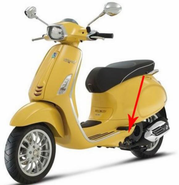 afdekkap duo-voetsteun sprint geel 968/a links piag orig 1b001011000l5