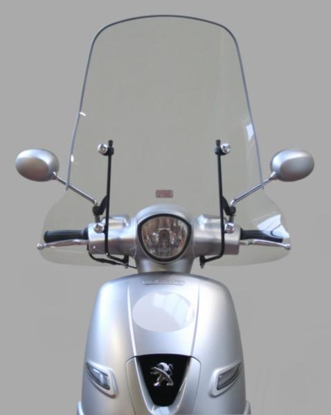 70cm windscherm Peugeot Django met bevestigingsmateriaal