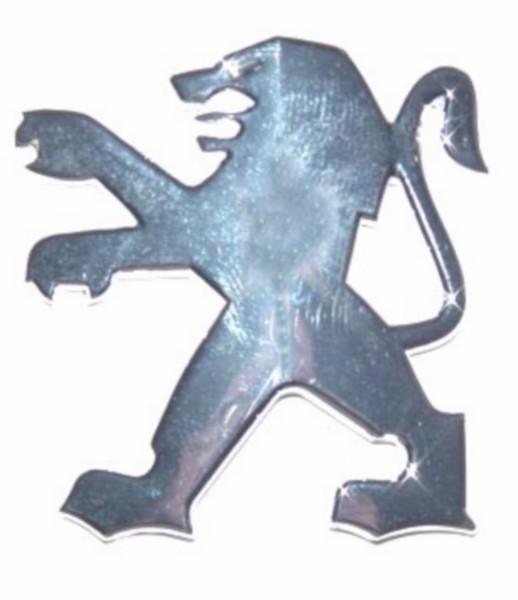 sticker peugeot logo dik leeuw sco peug chroom falko 980698