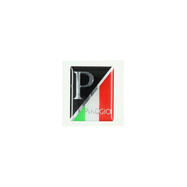 sticker logo voorscherm zwart/italy 3d lx/piag/primav/sprin