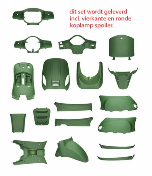 Mat groenen kappenset voor BTC RIVA, IVA, China LX, AGM VX50, Vespelini La Souris, Roma , VOM,Santini , Benzhou , Znen