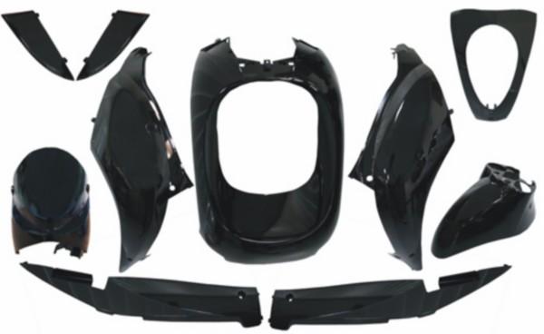 plaatwerkset mio zwart/zwart DMP 10-delig